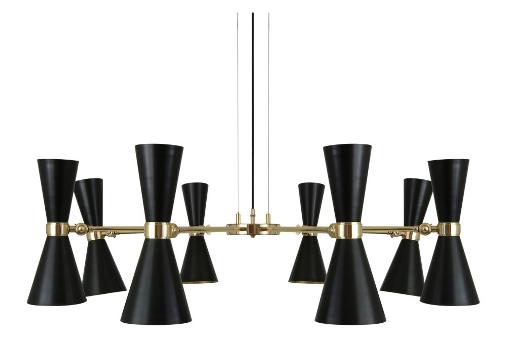 Cairo 8 Arm Chandelier by Mullan Lighting