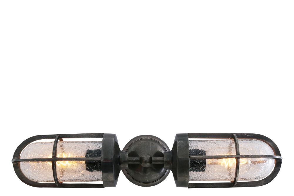 Clayton Double Well Glass Wall Light by Mullan Lighting