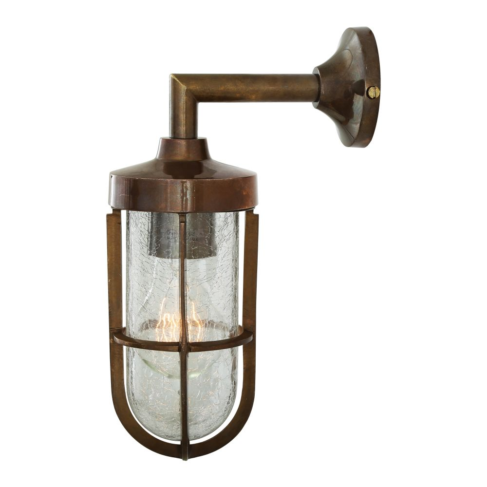 Cladach Brass Well Glass Wall Light by Mullan Lighting