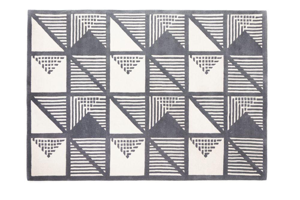 Gridwork Two-Tone Wool Rug by Lindsey Lang
