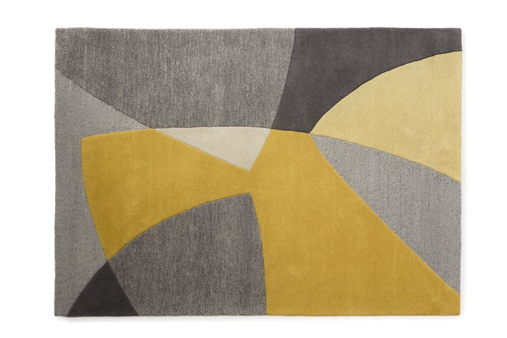 Scatter Yellow Wool Rug by Lindsey Lang