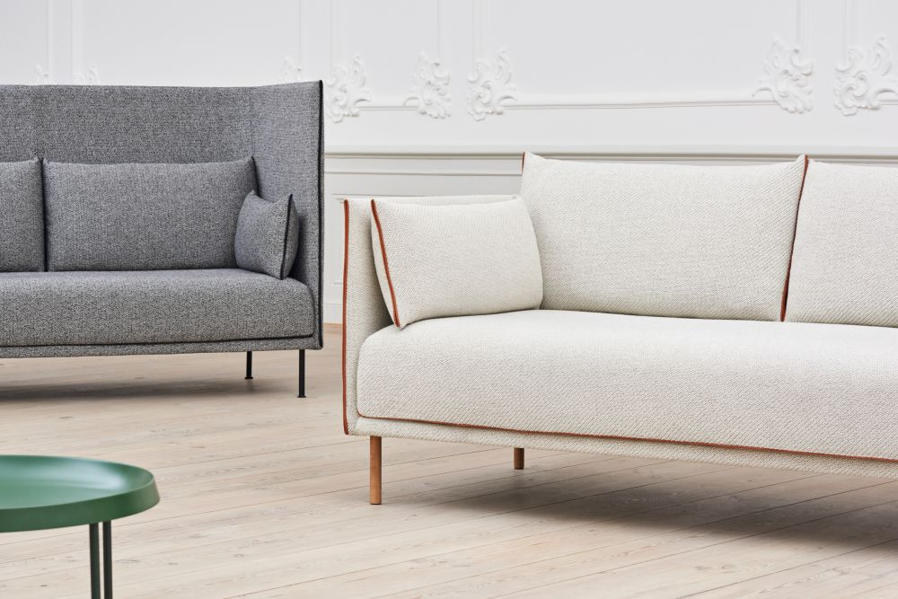 With An Angular Front View And Defining Piping Details, The Sofa Appears  Compact And Economical With Space, Yet Is Light And Spacious And Offers  Generous ...
