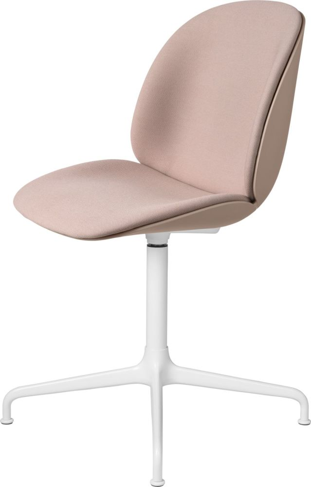 Beetle Meeting Chair - 4 - Star Swivel Base - Front Upholstered Shell by Gubi