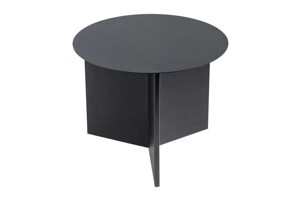 Slit Round Side Table by Hay