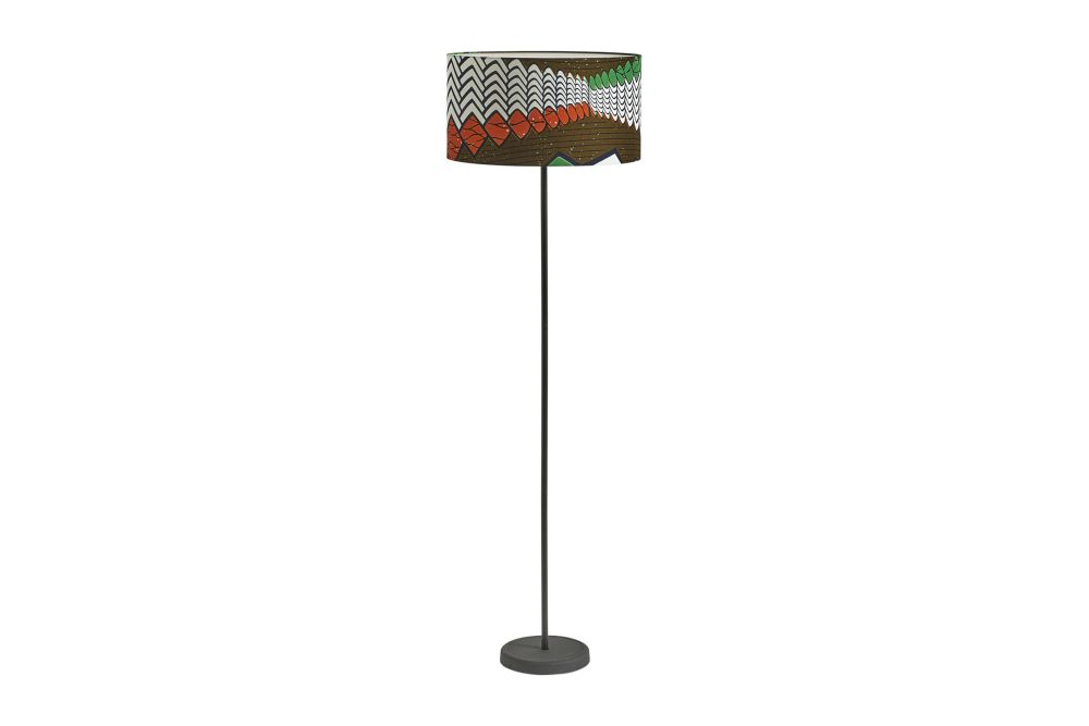 Drum Lamp Shade with Cast Floor Base by Hay