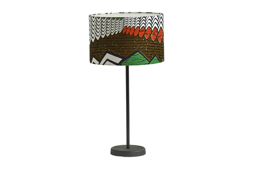 Drum Lamp Shade with Cast Table Base by Hay
