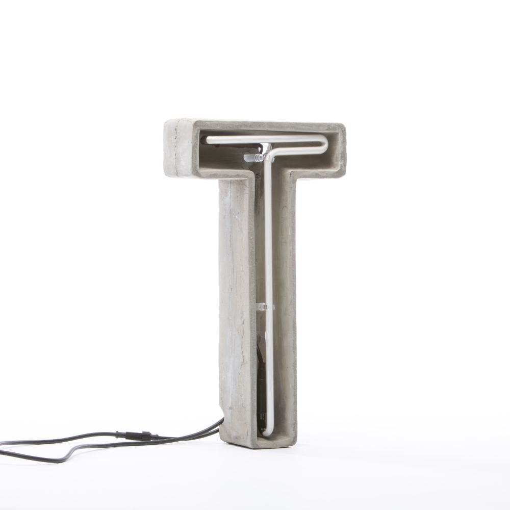Alphacrete Alphabet Lamp by Seletti