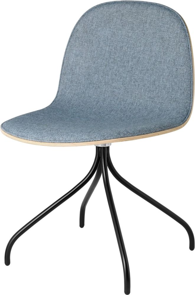 2D Swivel-base Dining Chair Front Upholstered Shell by Gubi