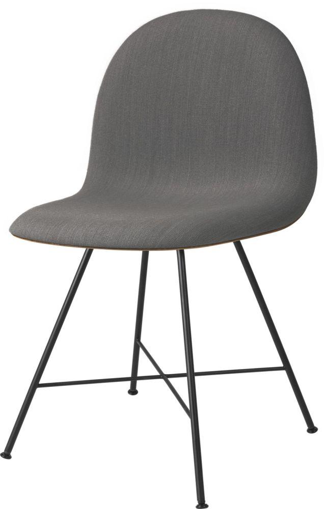Gubi 3D Dining Chair Center Base - Front Upholstered by Gubi