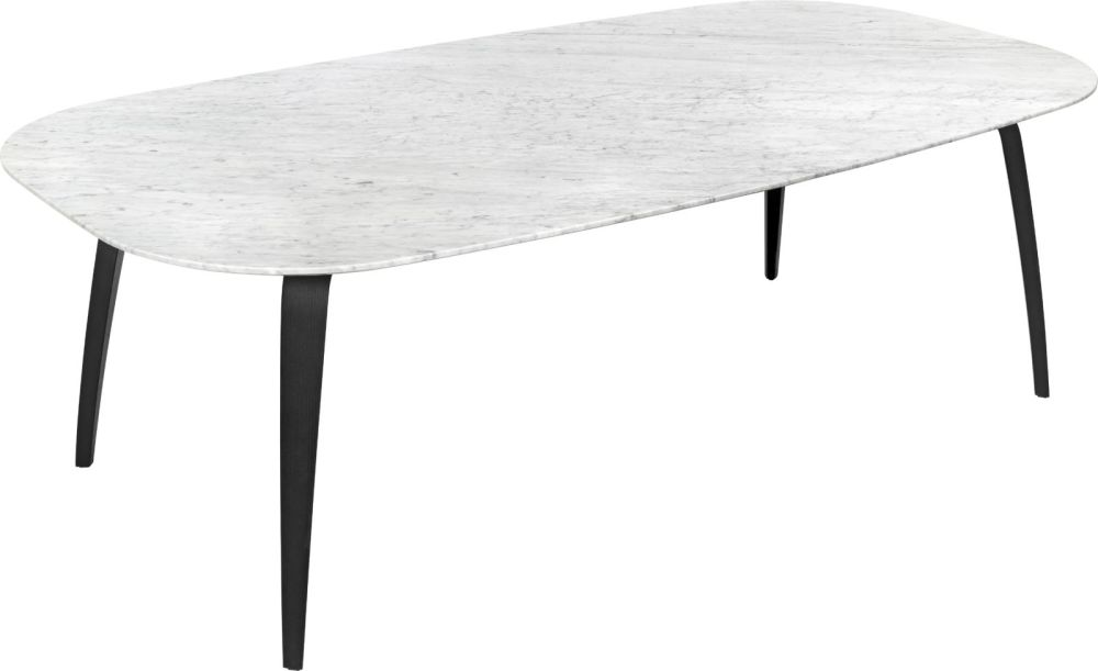 Gubi Dining Table - Elliptical – Marble by Gubi