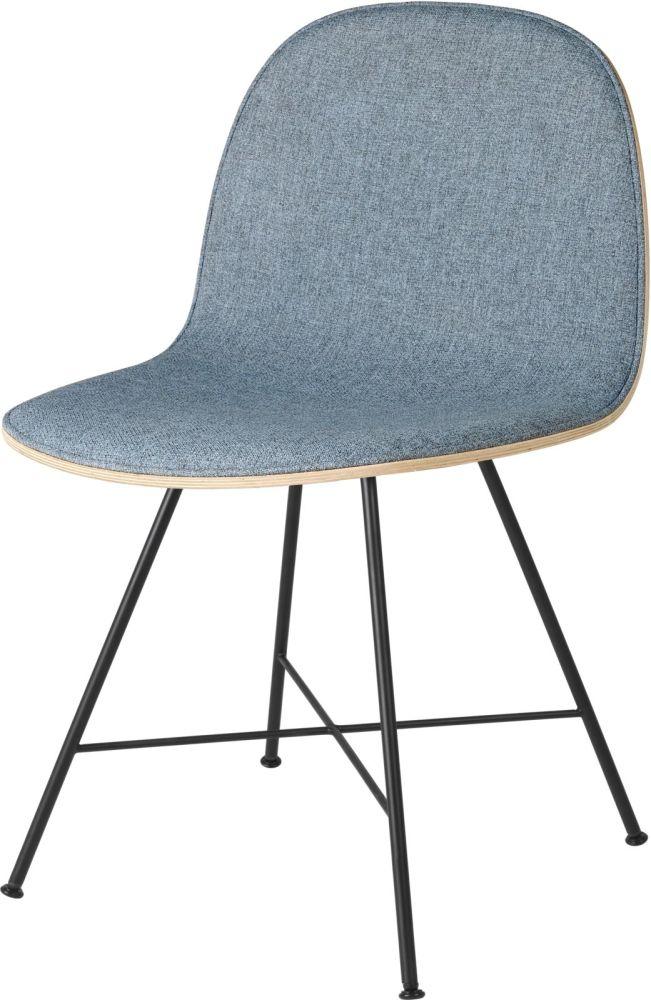 Gubi 2D Dining Chair Front Upholstered - Center Base by Gubi