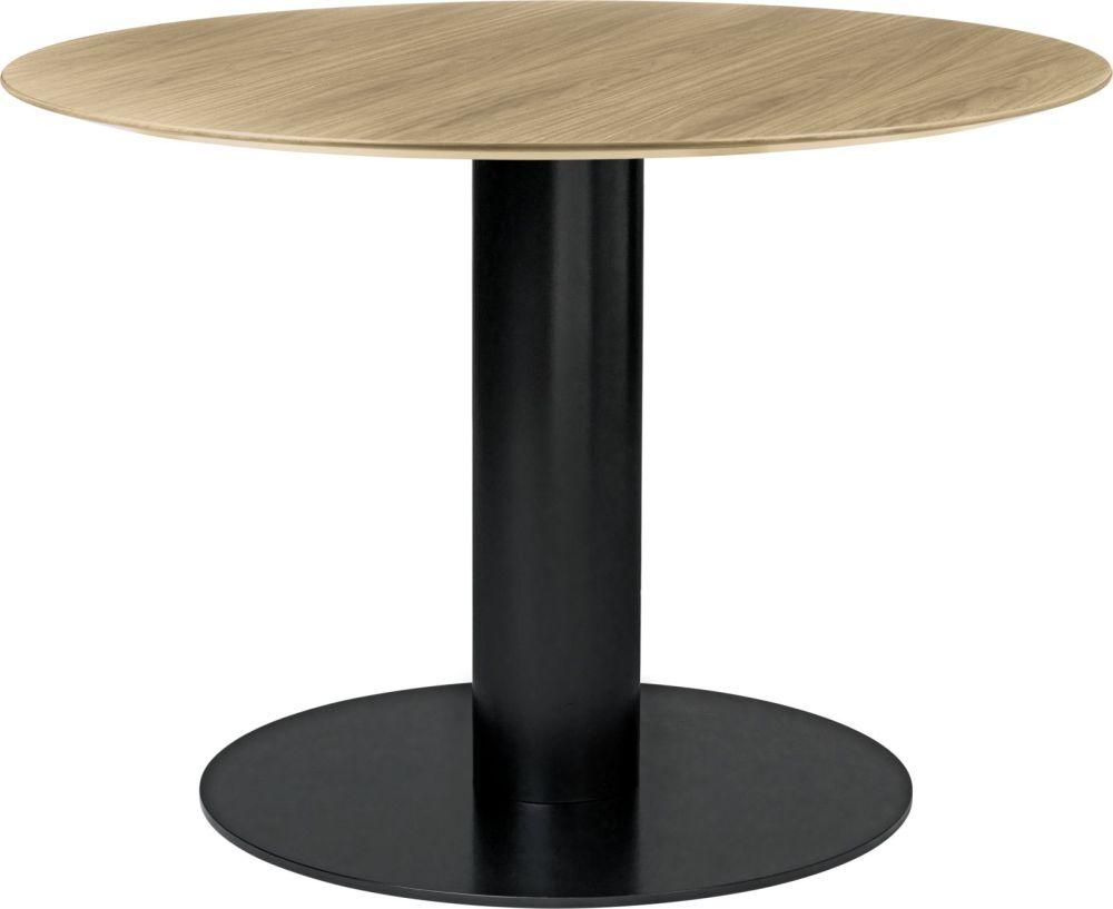 Gubi 2 0 Round Dining Table Wood Gubi Metal Black Gubi Wood Oak