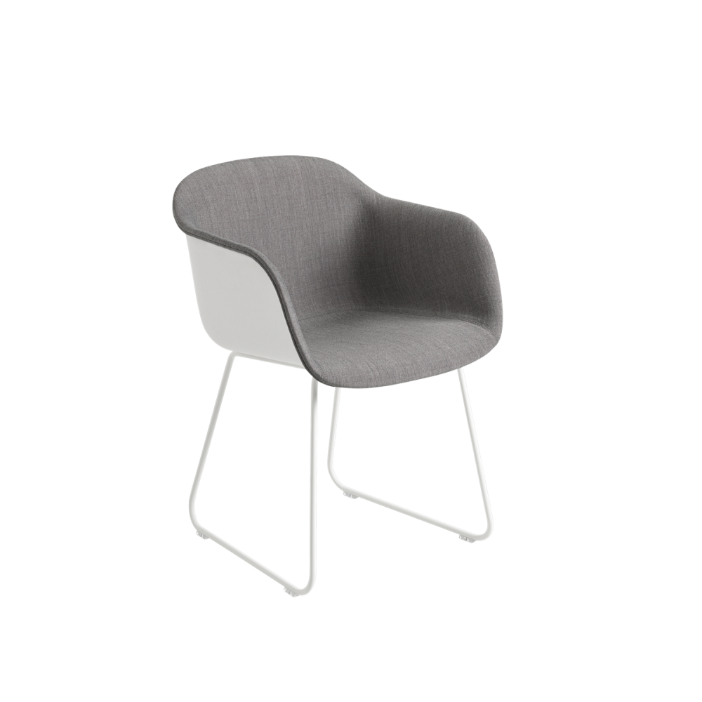 Fiber Armchair Front Upholstery - Sled Base by Muuto