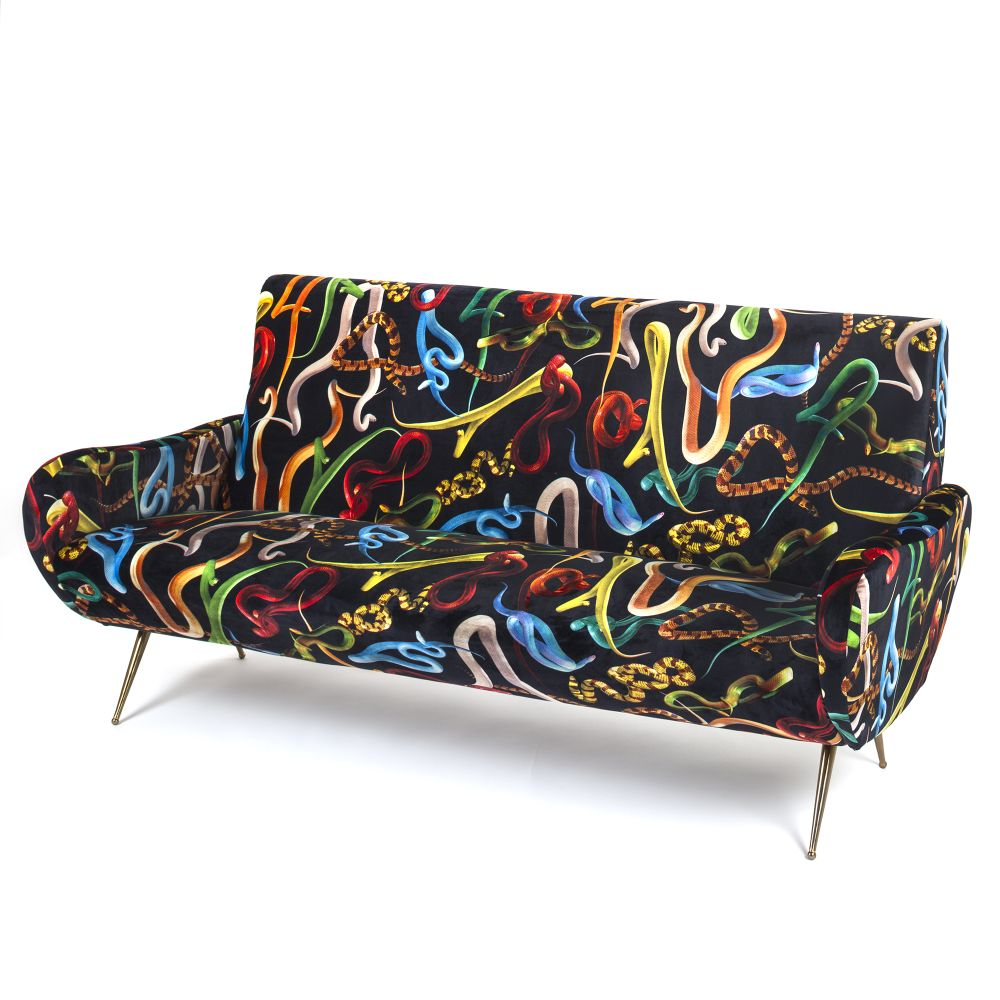 Toiletpaper 3 Seater Sofa by Seletti