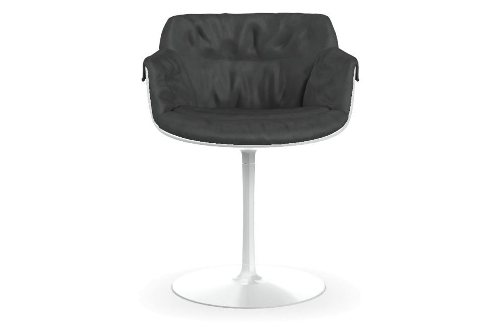 Flow Slim Chair Base, Central Leg, Padded XL by MDF Italia