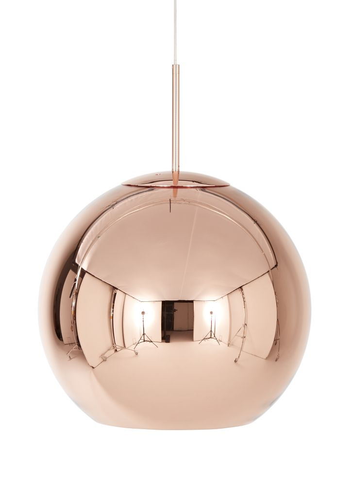 Copper Round Pendant Lamp by Tom Dixon