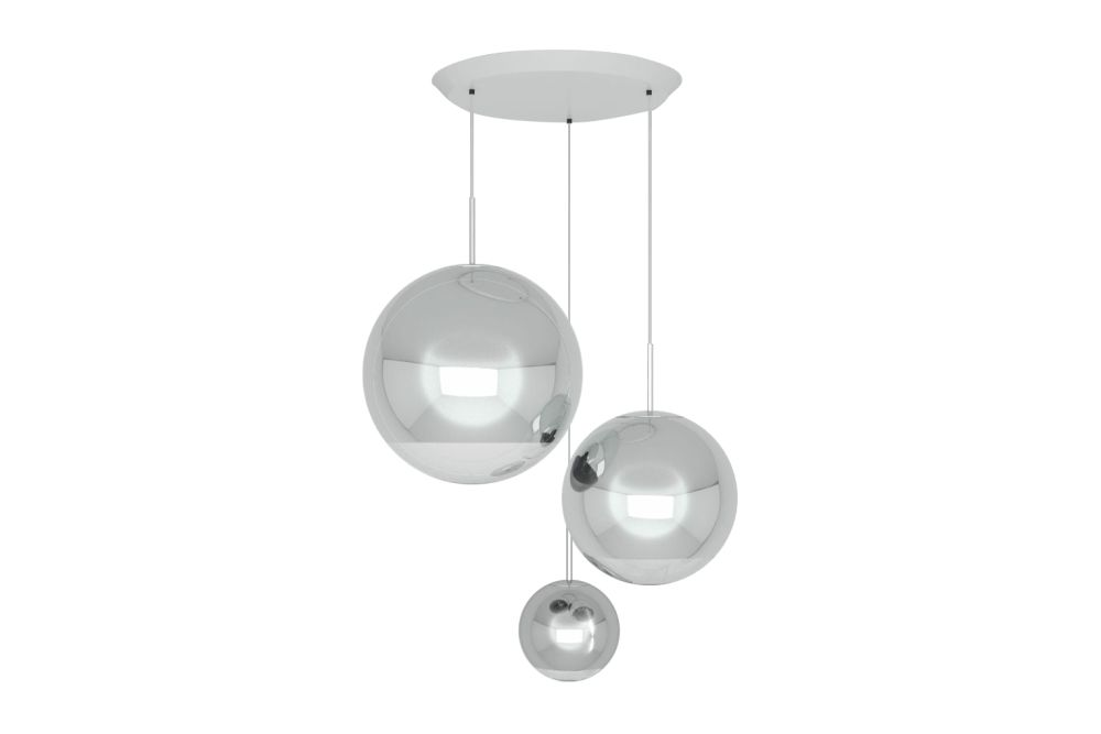 Mirror ball range round pendant system chrome by tom dixon aloadofball Image collections