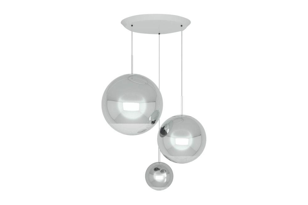 Mirror Ball Range Round Pendant System by Tom Dixon