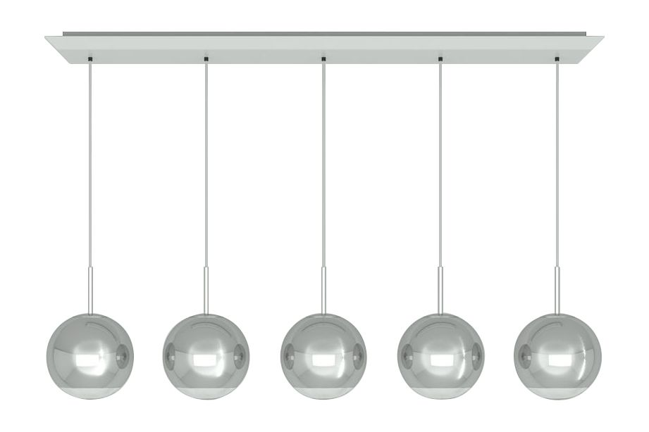Mirror Ball 25 cm Linear Pendant System by Tom Dixon
