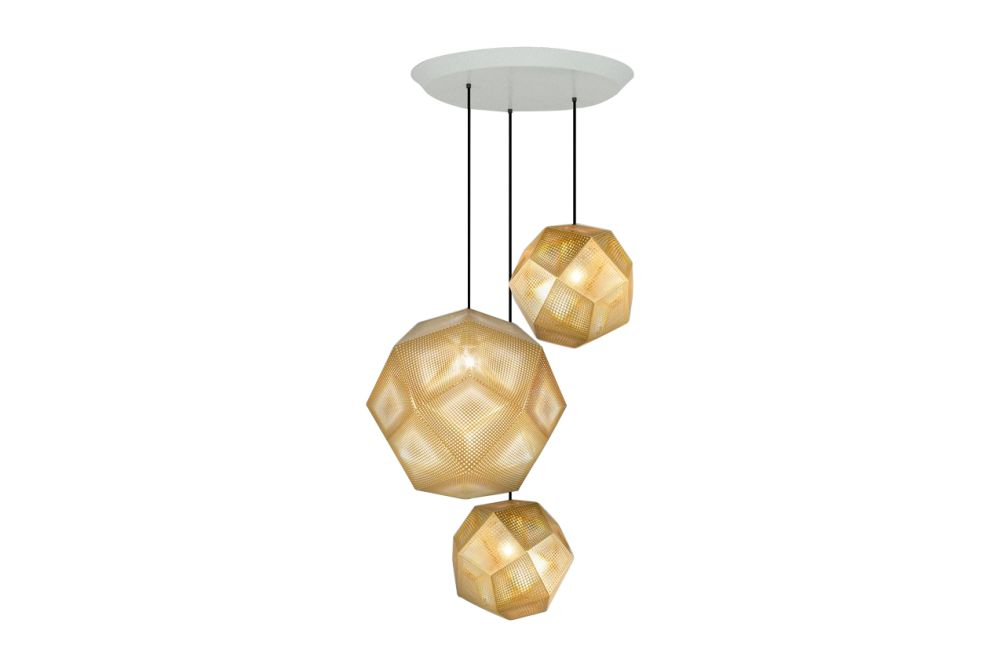 Etch Trio Round Pendant System by Tom Dixon