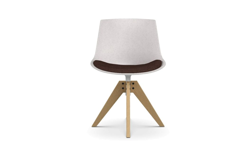 Flow Eco Chair, VN 4 Legs, Oak Base by MDF Italia