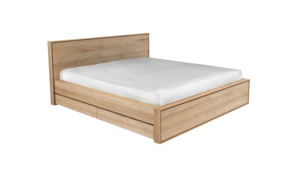 Nordic II Bed with Drawers by Ethnicraft