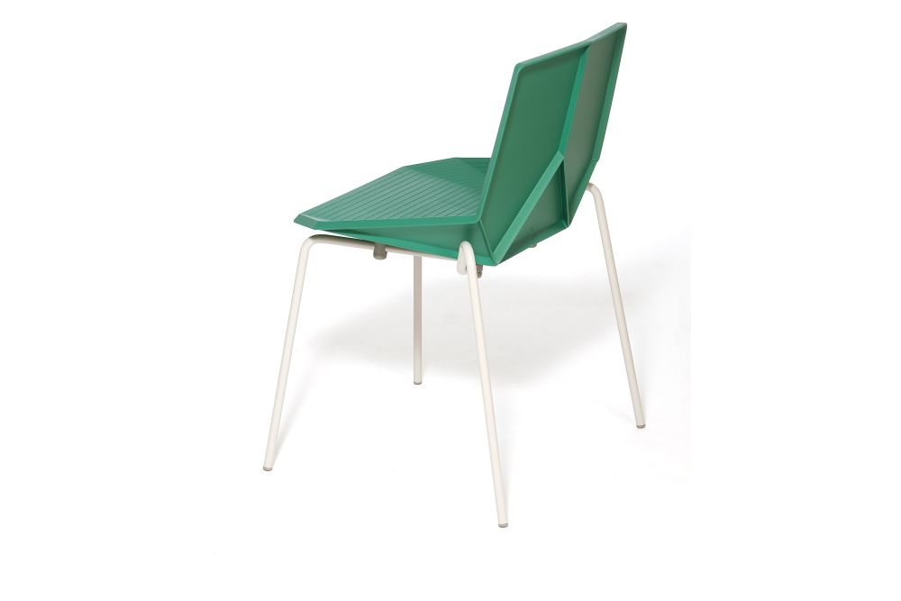 Green Colors Metal Dining Chair by Mobles 114