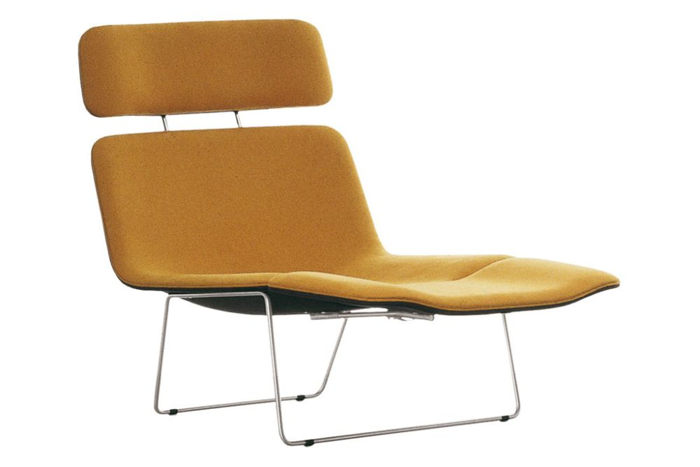 Spring Armchair with Headrest & Footrest by Cappellini