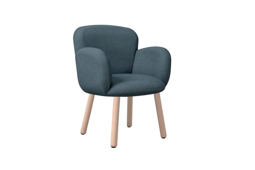 Dento Armchair Wooden Base by Cappellini