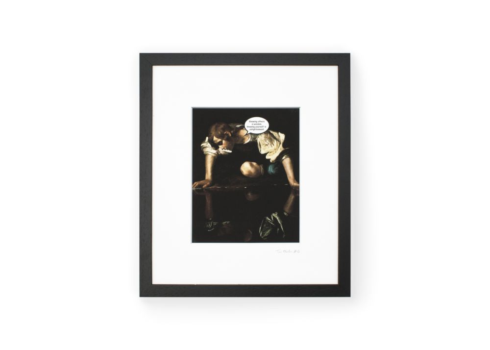 TaoMaster-6 Framed Printed Canvas by Mineheart