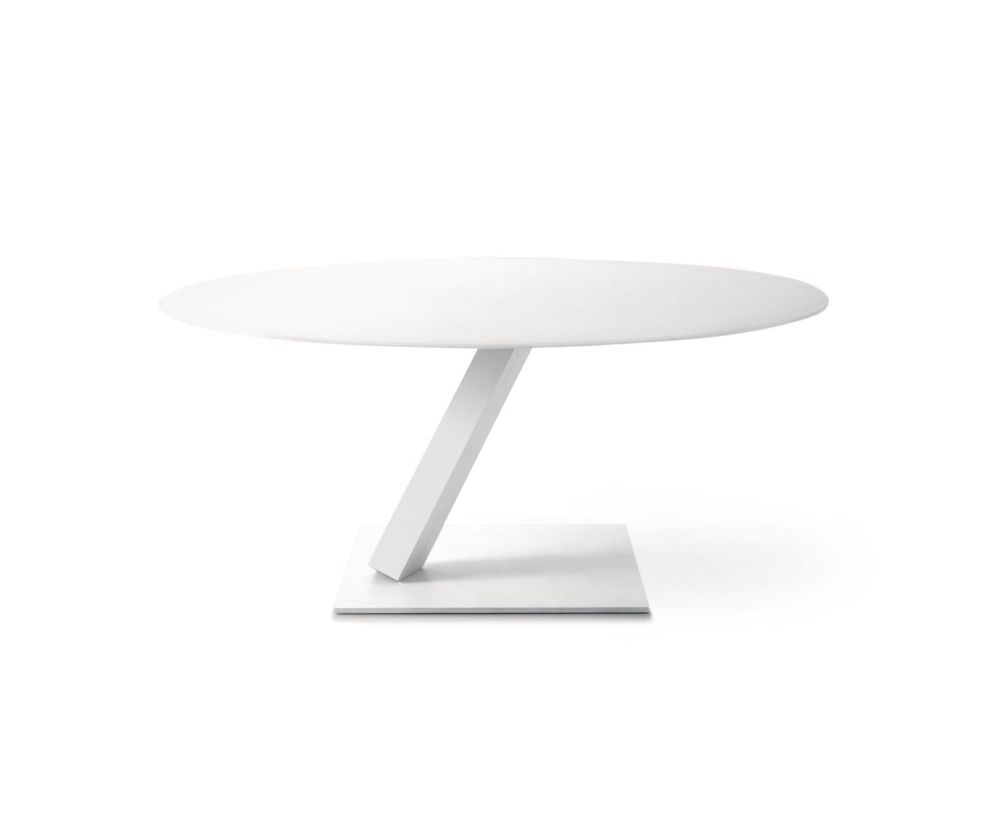 Element 680 Round Table with Glass Top  by Desalto