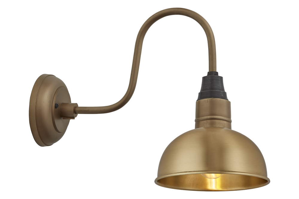 Swan Neck Dome Wall Light - 8 Inch by INDUSTVILLE