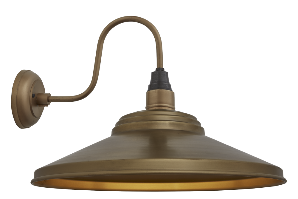Swan Neck Giant Step Wall Light - 18 Inch by INDUSTVILLE