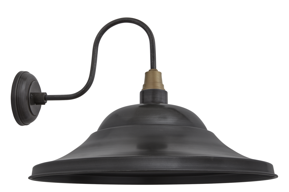 Swan Neck Giant Hat Wall Lights - 21 Inch by INDUSTVILLE