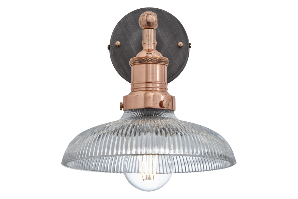 Brooklyn Glass Dome Wall Light - 8 inch  by INDUSTVILLE