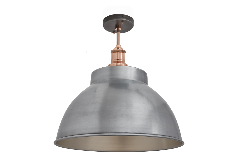 Brooklyn Dome Flush Mount Light - 13 Inch by INDUSTVILLE