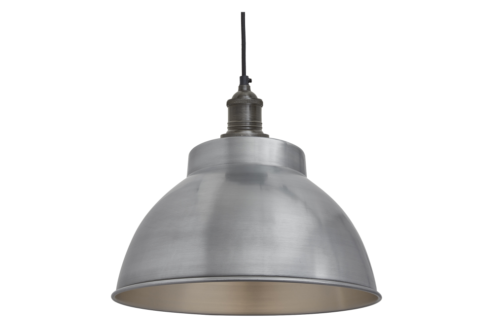 Brooklyn Dome Pendant Light - 13 Inch by INDUSTVILLE