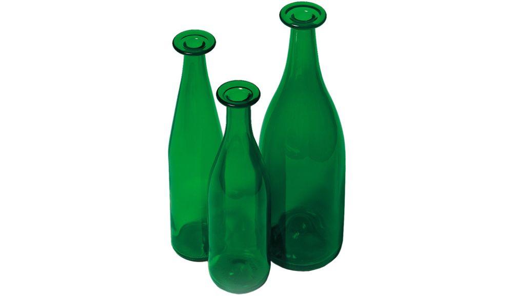 3 Set Green Bottles by Cappellini