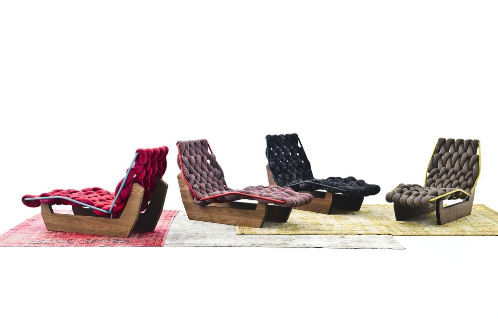 Biknit Chaise Longue by Moroso