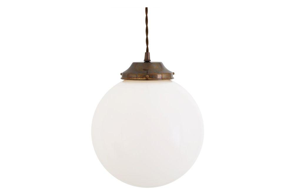 Gentry Opal Globe Pendant Light, 25cm by Mullan Lighting