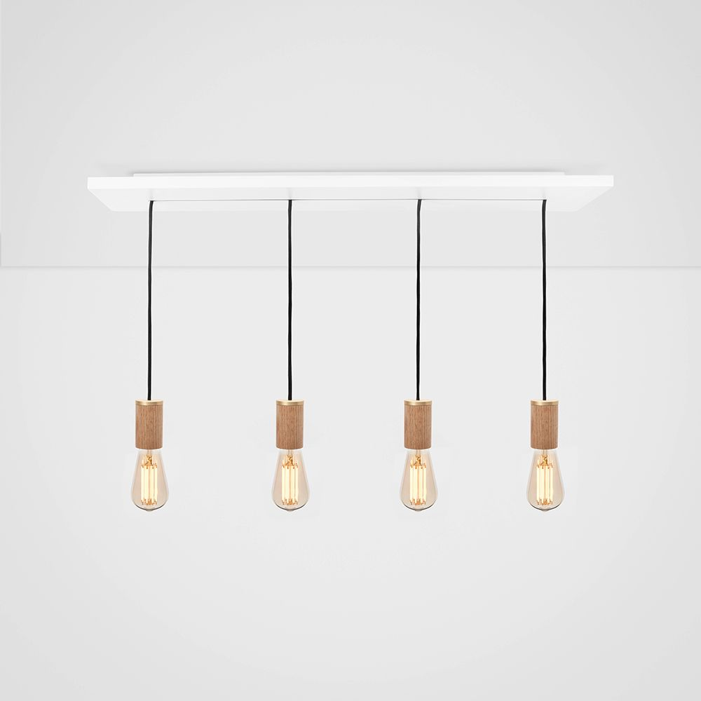 Squirrel Cage Oak Ceiling Light  by Tala