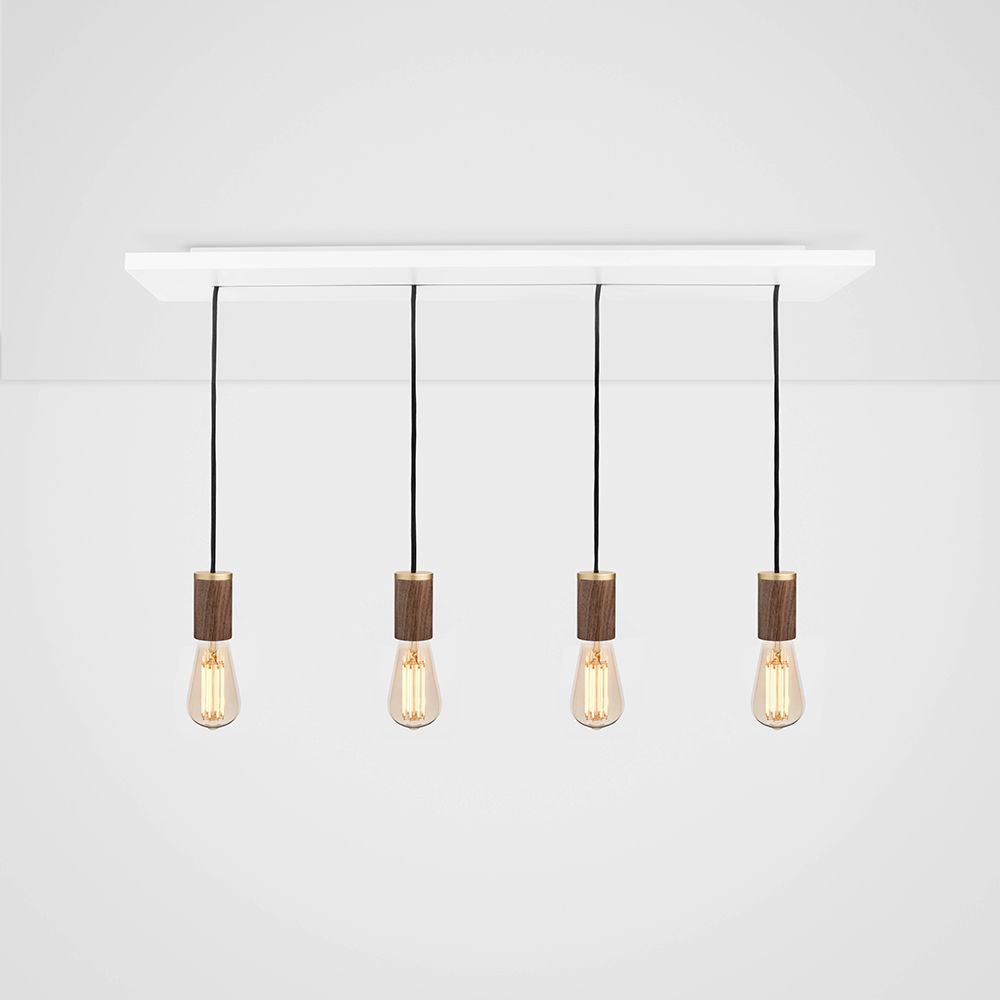 Squirrel Cage Walnut Ceiling Light  by Tala