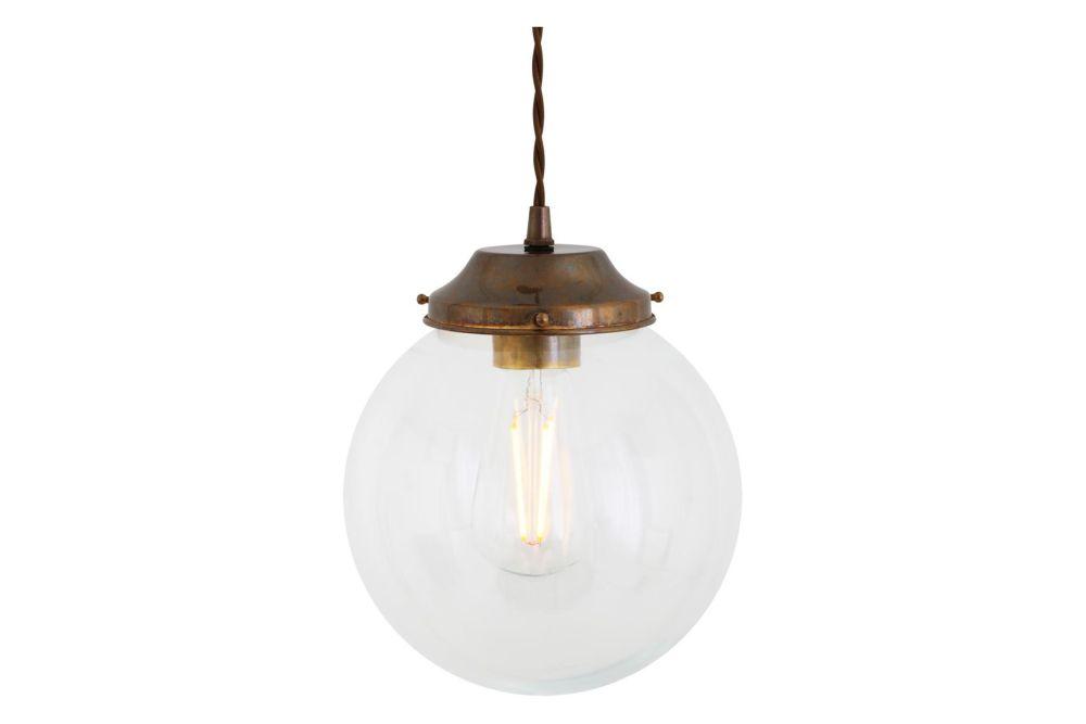 Virginia Clear Globe Pendant Light by Mullan Lighting