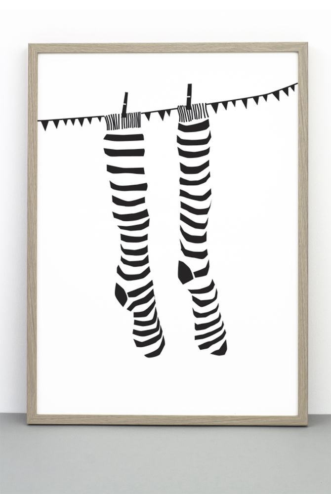 Stripy Socks Print by One Must Dash