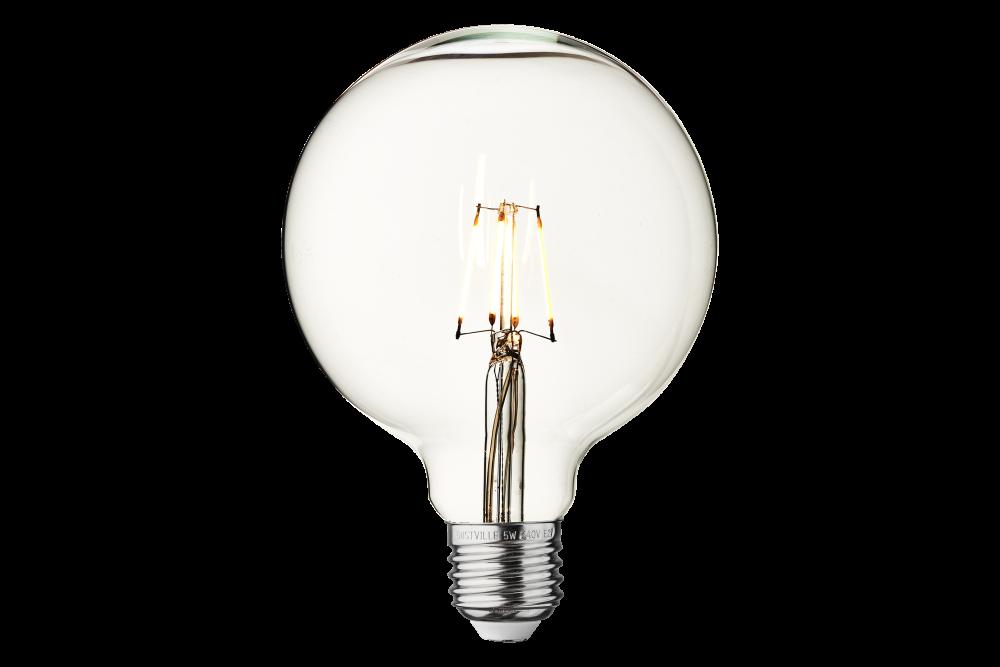 Vintage LED Edison Bulb Old Filament Lamp - 5W E27 Globe G125 by INDUSTVILLE
