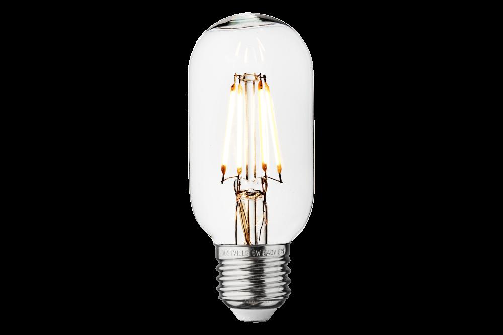 Vintage LED Edison Bulb Old Filament Lamp - 5W E27 Tube T45 by INDUSTVILLE
