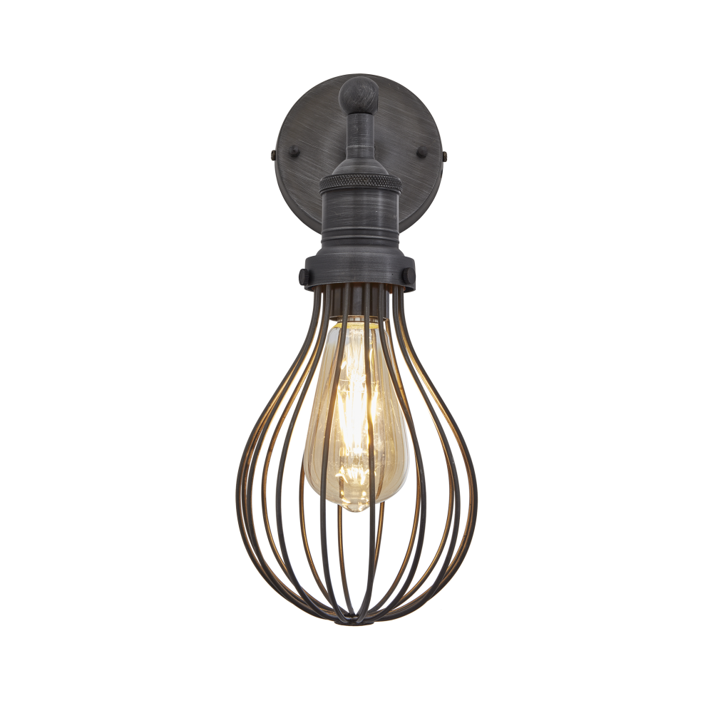 Brooklyn Balloon Cage Wall Light - 6 Inch by INDUSTVILLE
