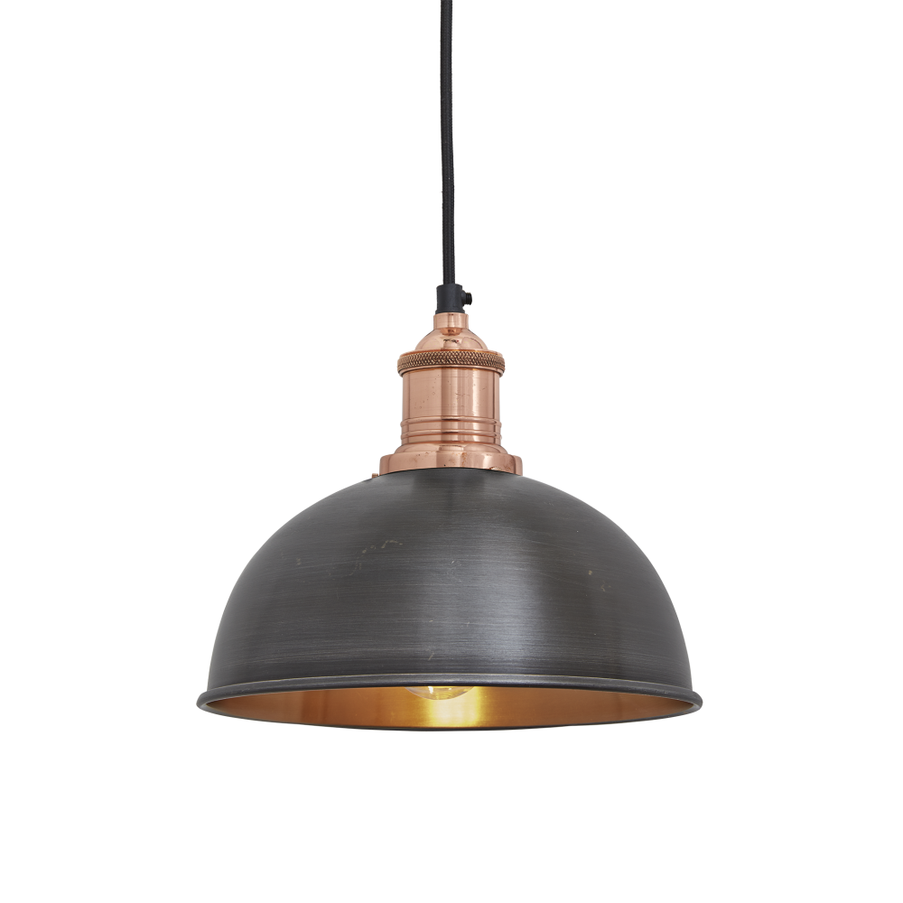 Brooklyn Dome Pendant Light - 8 Inch by INDUSTVILLE