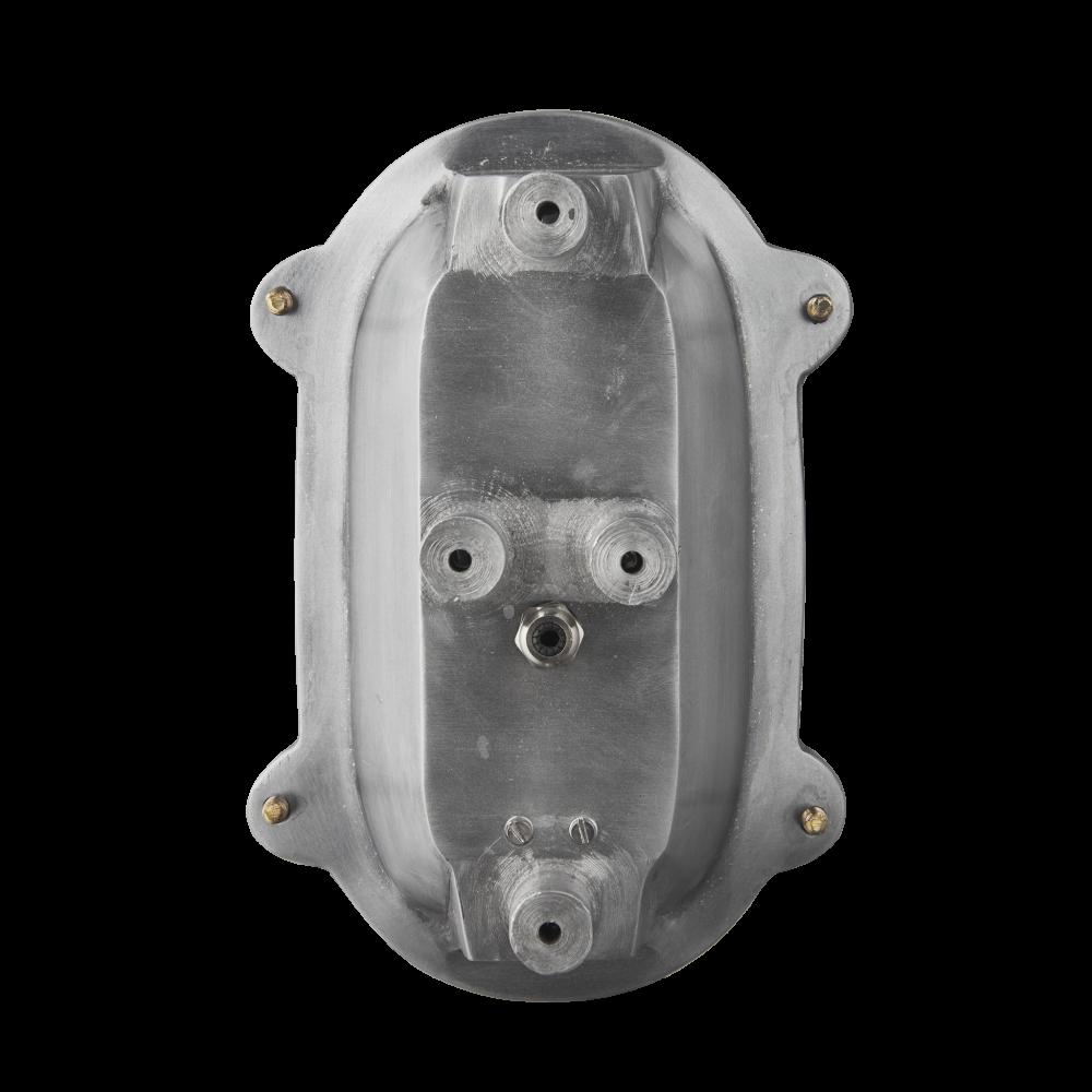 Bulkhead Outdoor & Bathroom Oval Light - 6 Inch - Gunmetal by INDUSTVILLE