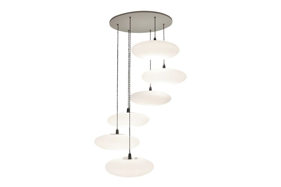 Etheletta 6 Drop Pendant Light by One Foot Taller